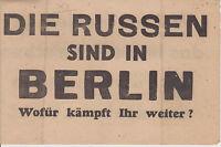 D10bis--di Russen Sind Berlin-volantino Lanciato Sulle Truppe Tedesche 2ww - lancia - ebay.it