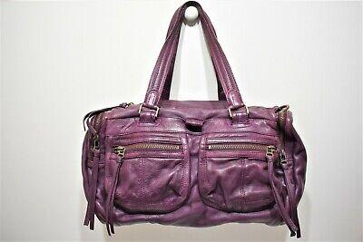 Zadig et voltaire, sac porté main en cuir violet