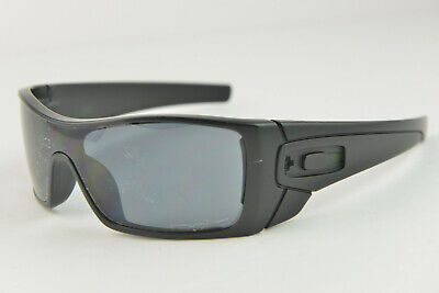 OO9101-04 BATWOLF Matte Black/Grey Polarized Sunglasses Missing Icons