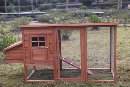 Large New Chicken Coop Rabbit Hutch Ferret Cage Hen Chook House