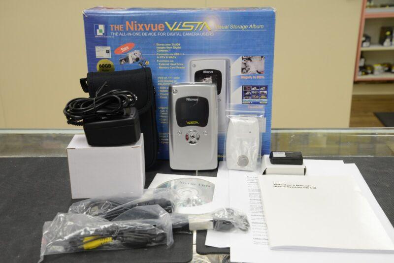 Nixvue Vista Visual Storage Album 60GB Portable Digital Storage Un-Used