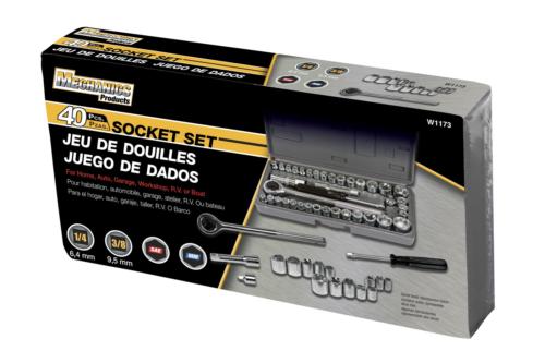 Performance W1173 40-Piece SAE and Metric Socket Set