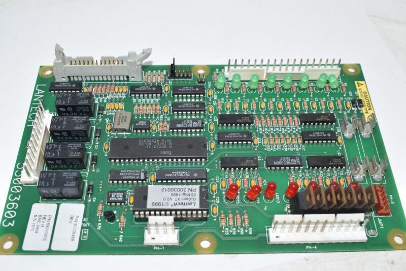LANTECH 55003603 MICRO CONTROLLER REV H 300008489 PCB Board Module