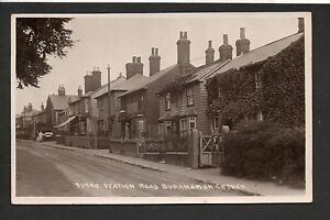 Burnham on Crouch - Station Road - real photographic postcard
