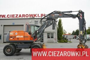 Atlas 150 W , 16t ,tiling arm,hydraulic bucket , blade