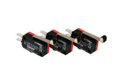 3 Pc Temco Micro Limit Switch Long Roller Lever Arm Spdt Snap Action Home Lot