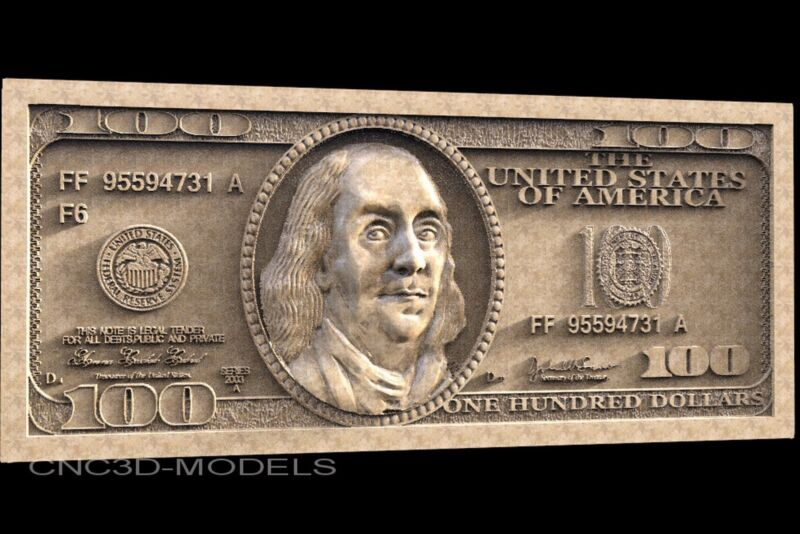 3D STL Models for CNC Router Carving Artcam Aspire American Dollar 1458