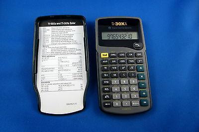 Texas Instruments TI-30XA Scientific Calculator - Clean / With New Batteries