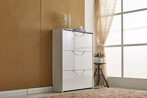 New High Gloss Shoe Cabinet Rack Storage Self Cupboard Wooden Kellyville The Hills District Preview