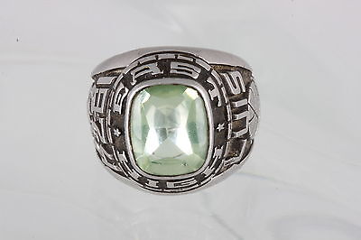 COSTUME LGC ACCR GREEN GLASS EAST HIGH LUIS CLASS 1974 RING SIZE 7 FASHION 5628