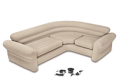 Intex Inflatable Corner Modern Couch Sofa + Air Pump  68575EP + 66631E