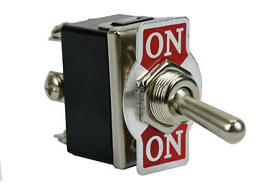 (TEMCo Heavy Duty 20A 125V ON-ON DPDT 6 Terminal Toggle Switch)