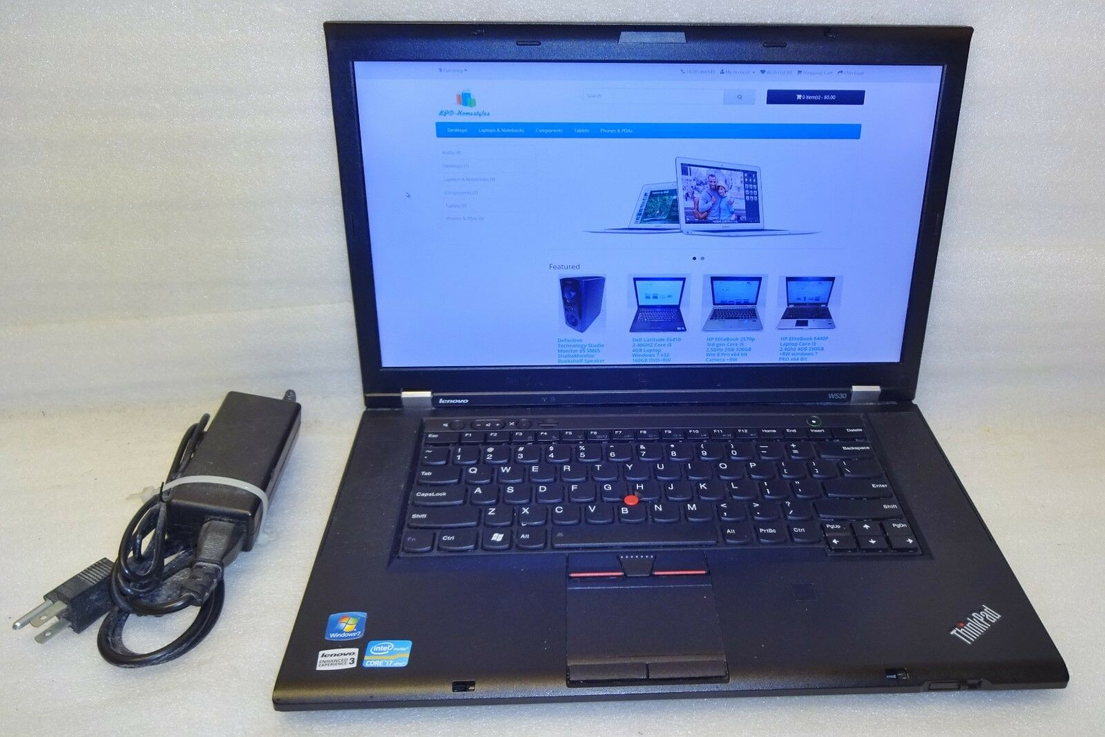Lenovo Thinkpad W530 Laptop Quad Core i7 2.70GHZ 8GB 180GB SSD windows 7 Pro