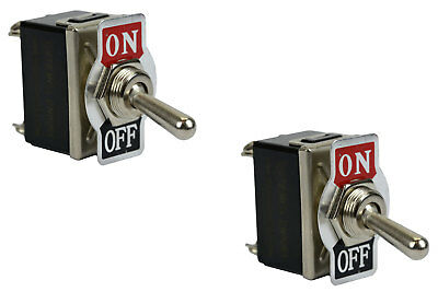 2 Pc Temco Heavy Duty 20a 125v On-off Dpst 4 Terminal Toggle Switch