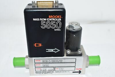 Brooks Automation 5850-c Mass Flow Controller 0-100 Sccm Ci2 Gas