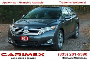 2011 Toyota Venza PanoRamic Sunroof | Bluetooth | CERTIFIED