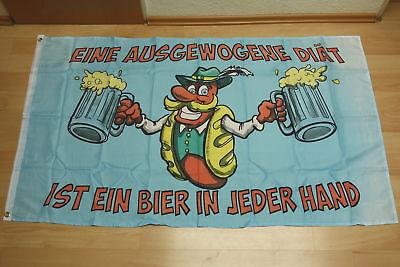 Fahnen Flagge Bier eine ausgewogene Diät - 90 x 150 cm