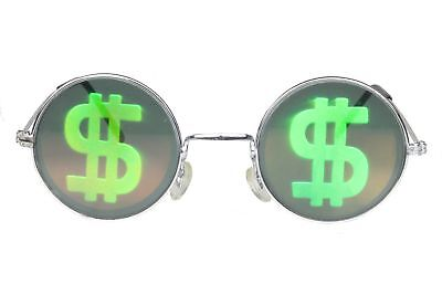 Novelty Sunglasses Party Glasses Round Hologram Shades Holographic Money Green](Holographic Sunglasses)