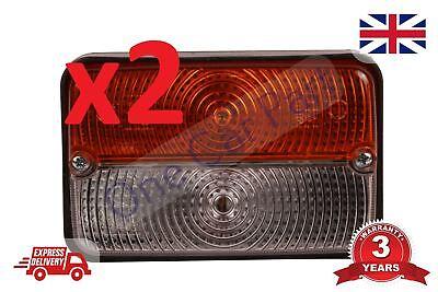 2 x Front Indicator Lamp Lights For Massey Ferguson MF 275,MF 398, Tractor
