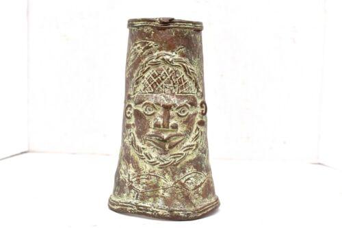 Antique African Tribal Sleeve Arm Bronze Benin Copper Ornate Tribal Motif Cuff