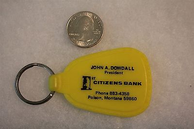 1St Citizens Bank Polson Montana Have A Happy Day Vtg Keychain Key Ring  21558