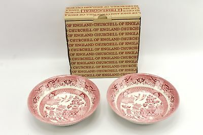 Classic Pink Willow Soup Bowl Set Churchill of England ()