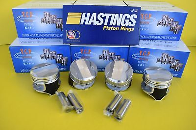 YCP 75.5mm P29 Pistons Coated High Dome Compression Honda Civic CRX D16 SOHC