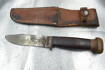 Vintage WWII US Navy FIGHTING COMBAT KNIFE ROBESON SHUREDGE #20 W ORIGINAL CASE