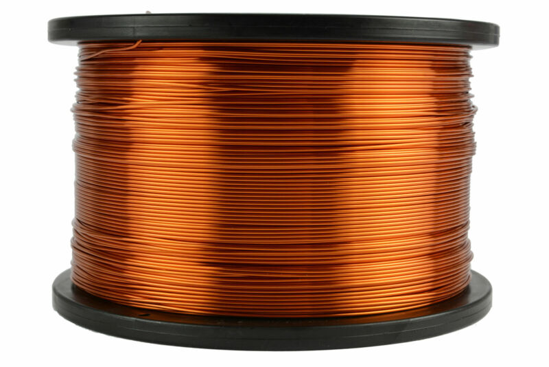 TEMCo Magnet Wire 19 AWG Gauge Enameled Copper 200C 5lb 1252ft Coil Winding