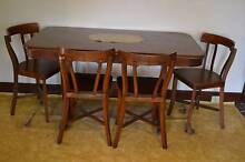 Table&4 Chairs-  1930s beautiful, old, simple, all wood Mortdale Hurstville Area Preview