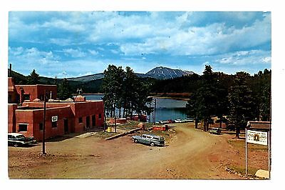 Monument Lake Postcard Trinidad Colorado Vintage Ranger Station Lodge Cabins  for sale  Shipping to Canada