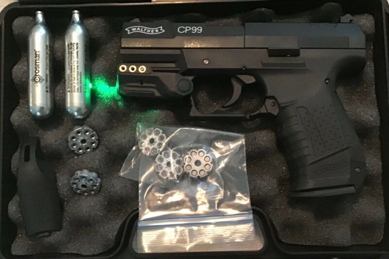 WALTHER Full Metal CP99 Co2 .177cal / 4.5mm  Pellet Air Pistol used with extras