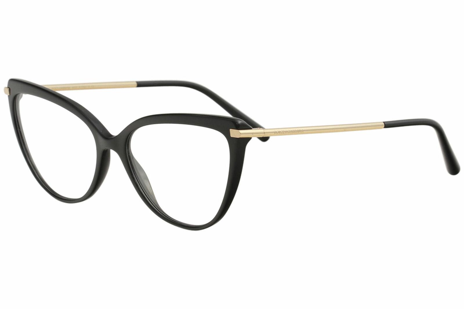 Dolce  Gabbana Eyeglasses DG DG3295 DG3295 501 BlackGold Optical Frame 55mm