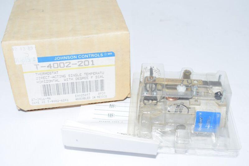 NEW Johnson Controls T-4002-201 Da Pneumatic Horizontal Mount Thermostat Less Co