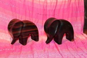 Two carved wooden elephants. Laser carved. Toowoomba Toowoomba City Preview