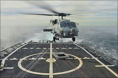 Plakat, Viele Größen; Sikorsky Sh-60r Seahawk Helikopter Uss