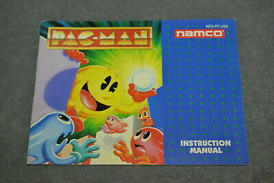 Nintendo NES: Pac-Man Namco [Instruction Book Manual ONLY]