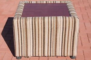 Funky Large Retro / Vintage Brown Striped Storage Ottoman Canning Vale Canning Area Preview