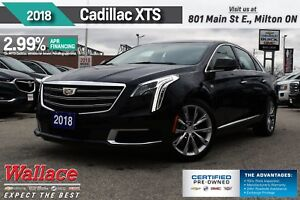 2018 Cadillac XTS UP TO 2.99% FNC/HTD SEATS/8 SCRN/RMT STRT/BOSE