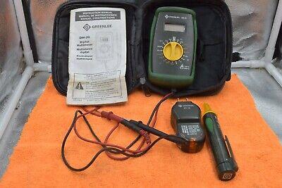 Greenlee Dm-20 Digital Multimeter With Gt-11 Gt-10  Soft Case