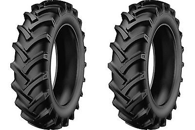 Two New 5.00-12 Starmaxx Tr-60 R-1 Lug Compact Farm Tractor Tires Tubes