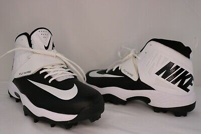 a5b7f873b5a1 Nike Football Cleats 603350 010 Fly wire High Football Cleats Mens Size 13.5