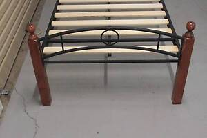King Single wood and metal Bed very good condition Bridgeman Downs Brisbane North East Preview