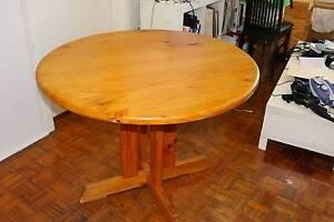 Circular / Round wooden table West Footscray Maribyrnong Area Preview