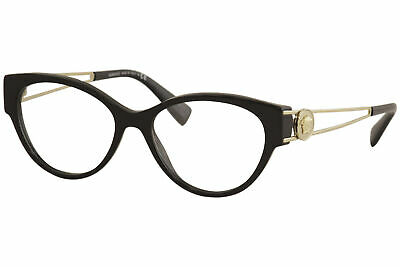 Versace VE3254 GB1 Eyeglasses Women's Black/Gold Full Rim Optical Frame (Full Rim Metal Eyeglasses Frame)