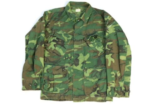 Original US 1969 Vietnam era ERDL Camo Jungle Jacket / Shirt