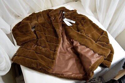 Mistook brown teddy bear faux fur coat size women's Oversized US sz 6 Womens Faux Fur Coats