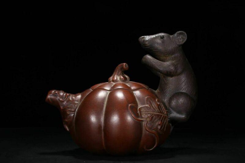 Chinese Yixing Zisha Handmade Exquisite Teapot WZS198