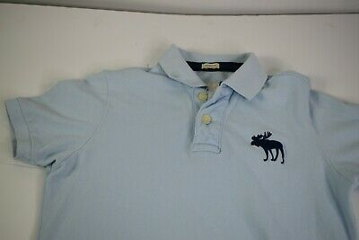 Abercrombie and Fitch Muscle Polo Shirt size Small Men Baby blue Short sleeve