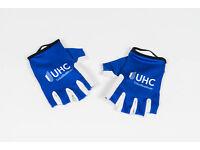 Blue//White M New 2016 Men/'s Vermarc UHC Pro Cycling Half-Finger TT Gloves